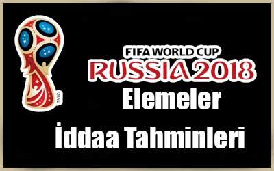 Dünya Kupası Elemeleri İddaa Tahminleri