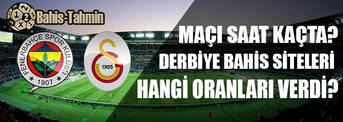 Fenerbahçe galatasaray maç saati