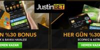 Justinbet Her gün %30 Bonus